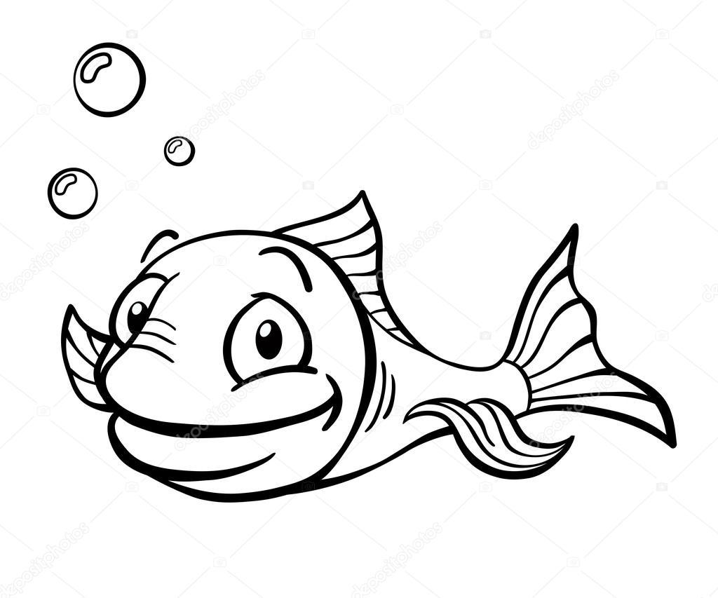 depositphotos_31278937-stockillustratie-zwart-wit-cartoon-vis